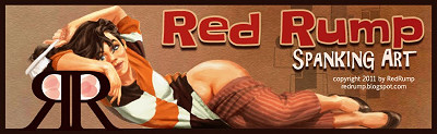 Red Rump Spanking Art